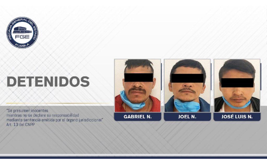 FGE Puebla rescató a víctima y detuvo a tres presuntos secuestradores de Veracruz