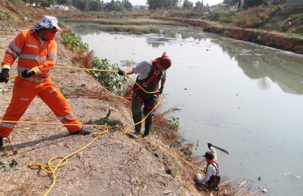 Ayuntamiento de Puebla arranca limpieza preventiva en puntos de riesgo susceptibles de inundación