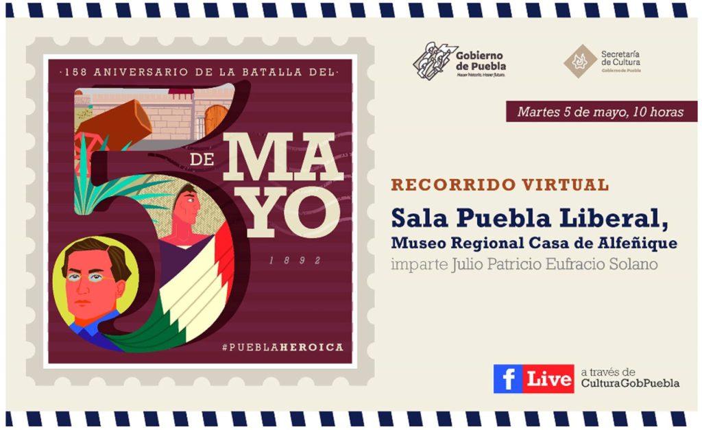 Invita Secretaría de Cultura a transmisión especial por el 158 Aniversario de la Batalla de Puebla