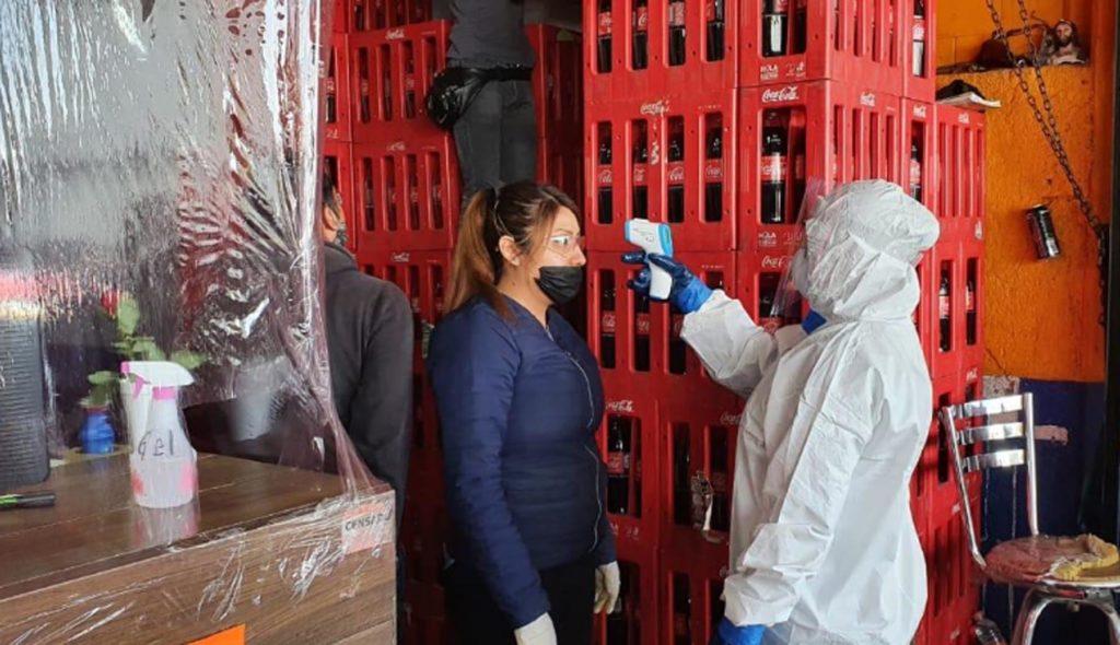 Realizan operativo de detección física de COVID-19 en la Central de Abastos