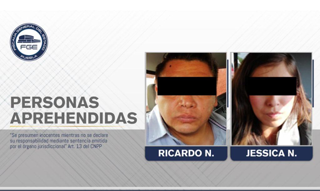 FGE de Puebla y PGJ de Tlaxcala lograron la captura de una pareja presuntamente involucrada en diversos secuestros