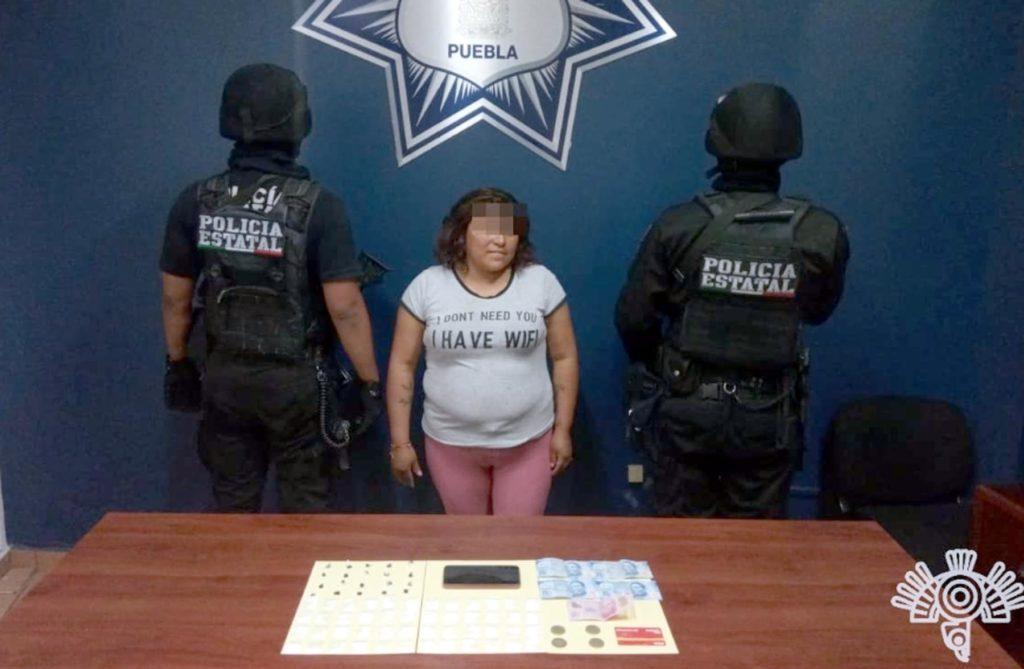 Detiene SSP a presunta abastecedora de puntos de venta de droga