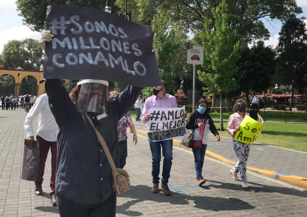 Liberales VS Demócratas en Puebla durante visita de López Obrador