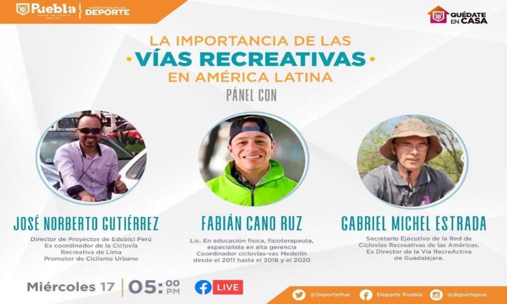 Ciudad de Puebla expondrá experiencia de Vía Recreativa en debate latinoamericano