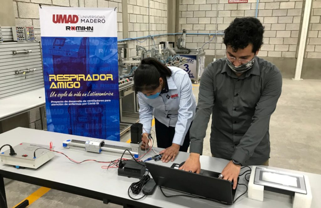 UMAD y ROMIHN desarrollan ventiladores para pacientes con Covid-19