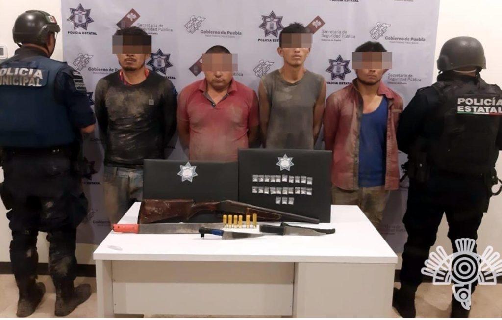 Detiene SSP a cuatro integrantes de una banda dedicada al robo de transporte de carga