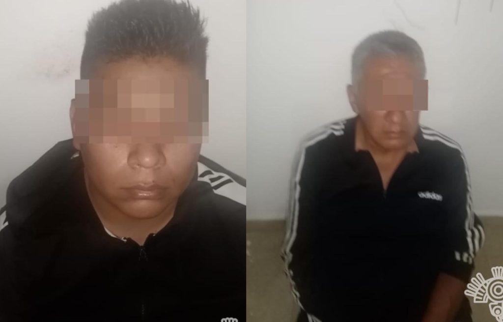 Detienen policías Estatal y Municipal, GN y Sedena, a dos presuntos secuestradores en Huejotzingo