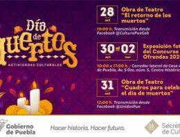 Presenta Secretaría de Cultura cartelera de Día de Muertos