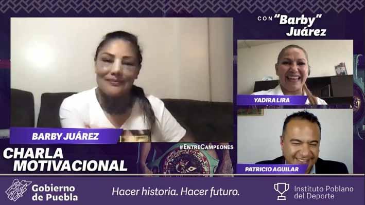 """Campeones no son los que caen, son los que se levantan: """"Barby"""" Juárez"""