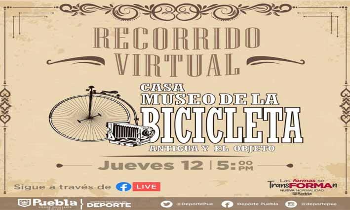 IMDP realizará recorrido virtual desde el Museo de la Bicicleta