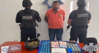 """Captura Policía Estatal a """"El Alacrán"""", objetivo prioritario del atlas delictivo"""