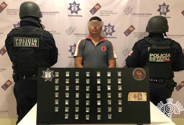 Captura Policía Estatal a presunto distribuidor de droga