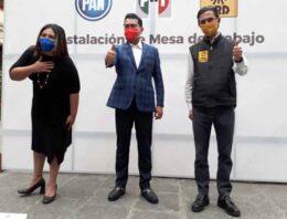 Instalan Mesa de Trabajo dirigencias del PAN, PRI y PRD con miras a 2021