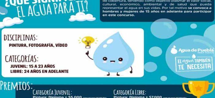 Agua de Puebla lanza el concurso bajo el tema  ¿Qué significa el agua para ti?