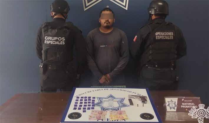 En la capital, Policía Estatal detiene a presunto distribuidor de droga