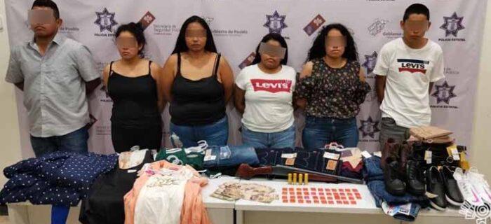Policía Estatal detiene a banda dedicada al robo de comercio