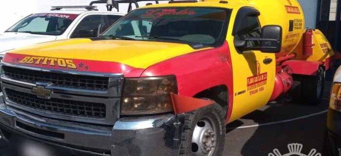 Detiene Policía Estatal a dos hombres por presunta posesión ilegal de gas LP