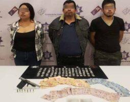 Detiene Policía Estatal a tres presuntos narcomenudistas de Tehuacán