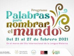 Conmemora Cultura Día de la Lengua Materna con programa especial