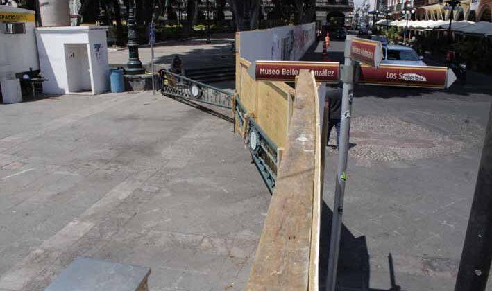 Se suspenden las obras del Zócalo sin justificación