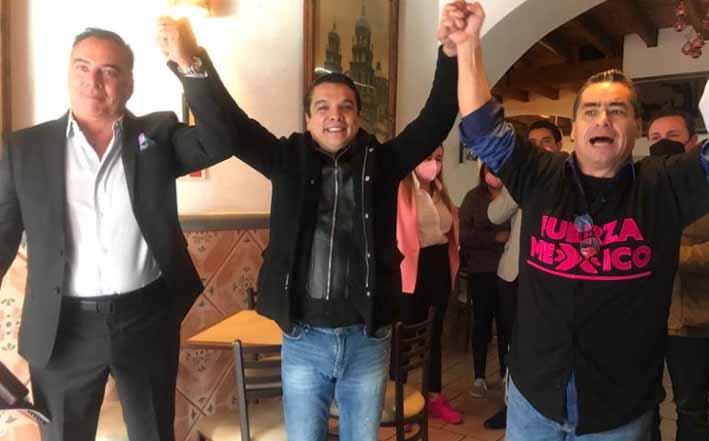 Islas Maldonado presenta a Moreno Valle Buitrón como candidato de FXM para la capital de Puebla