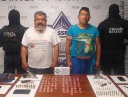 Presuntos vendedores de armas son asegurados en San José Chiapa