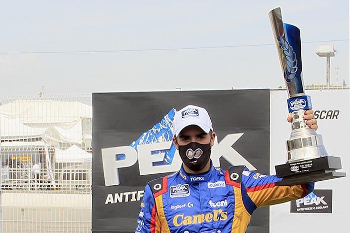 No baja García Jr. del Podio, es 2° en Fecha 3 NASCAR Puebla