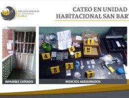 En San Bartolo, la FGE aseguró droga e indicios de su presunta venta