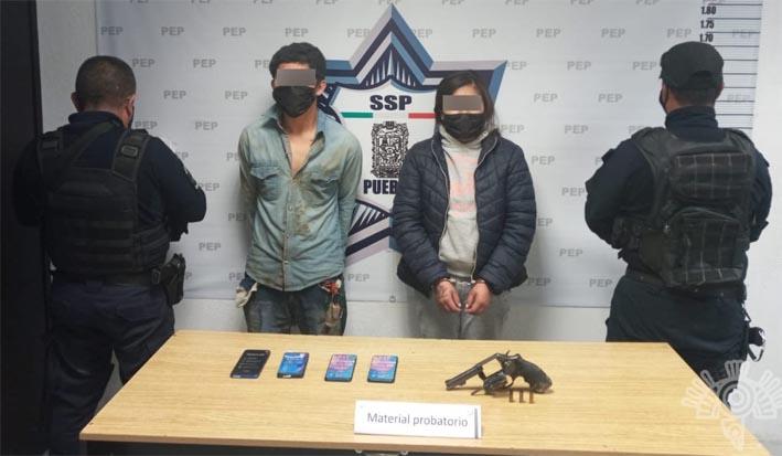 En Amozoc capturan a presuntos asaltantes