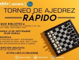 Deporte Puebla realiza Torneo Municipal de Ajedrez