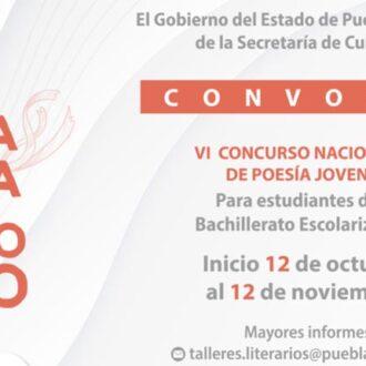 """Convoca Cultura al VI Concurso Nacional de Poesía Joven """"Amapola Fenochio"""""""