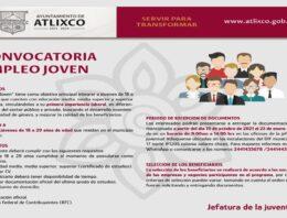 Ayuntamiento de Atlixco lanza programa empleo joven