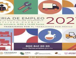 Para la reactivación económica, Atlixco será sede de la Feria del Empleo 2021
