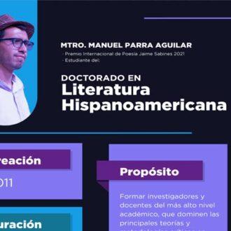 Manuel Parra, Premio Internacional de Poesía Jaime Sabines